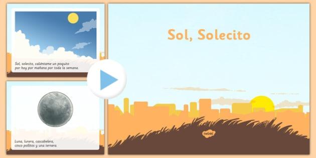 Canción Sol Solecito Powerpoint - spanish, song, canci