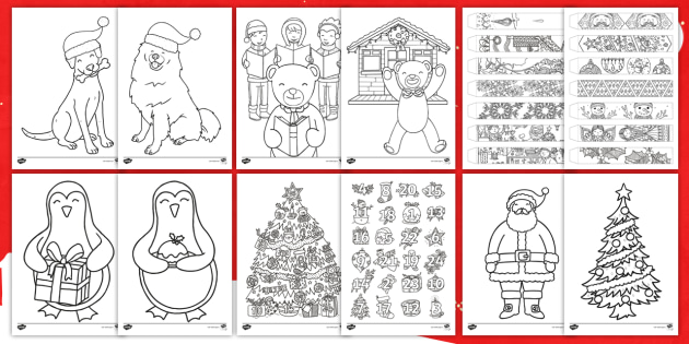 Ultimate Christmas Colouring Sheets Pack Teacher Made