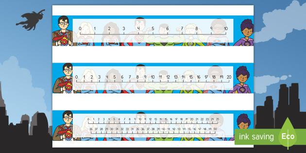 Recta numérica: Los superhéroes  - Los superhéroes, proyecto, transcurricular, poderes, números, sumar, restar, contar, operaciones,