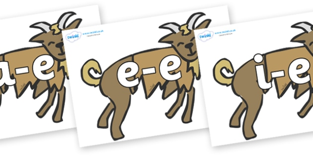 Modifying E Letters on Billy Goats Gruff - Modifying E, letters, modify, Phase 5, Phase five, alternative spellings for phonemes, DfES letters and Sounds