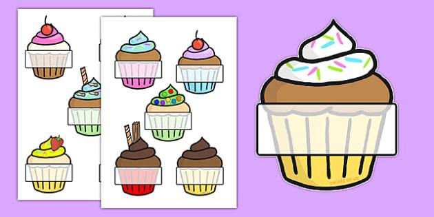 Editable Self-Registration (Cupcakes)- Self registration, register, editable, labels, registration, child name label, printable labels, cupcakes, baking, cake