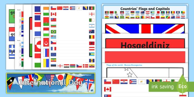 International Celebration Decoration Resource Pack - International, staff, residents, celebration, culture, the world, diversity, ideas, care homes, elde