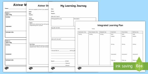 Aistear Planning and Assessment Pack - Aistear, Planning,Assessment, Tools, ROI, Ireland, Irish, observation, learning journey, short obser