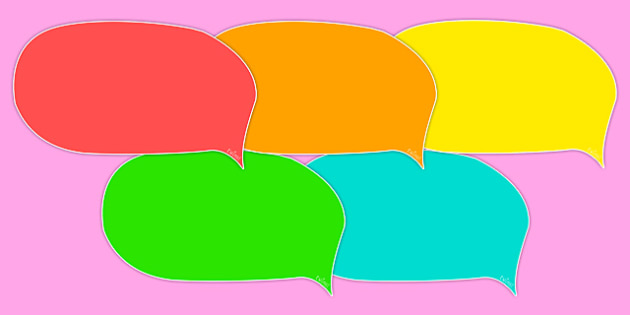 Editable Speech Bubbles (Multicolour) - speech bubble, multicolour, editable, creative, templates