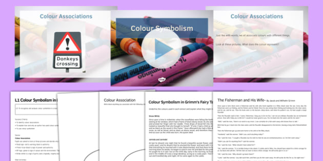 Colour Symbolism Lesson Pack 1 - colour symbolism, lesson pack, 1, lesson, pack, colour, symbolism