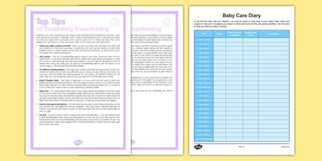 Top Tips for Establishing Breastfeeding - Baby, feeding, breastfeeding, newborn, milk