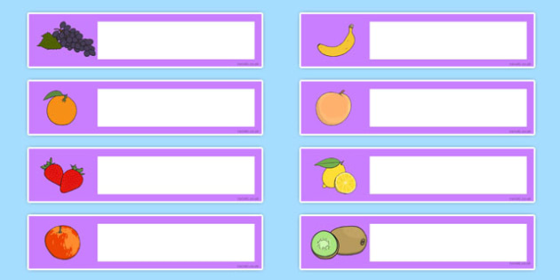 Fruit Themed Editable Gratnells Tray Labels - tray labels, fruit