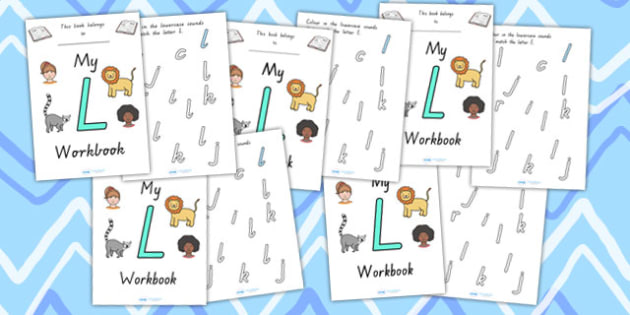 My Workbook L Uppercase - letter formation, fine motor skills