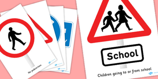 KS2 British Road Sign Posters - poster, signs, display, displays