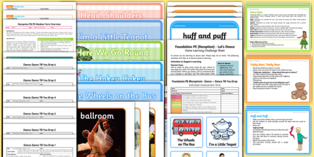 Foundation PE (Reception) - Dance - Dance Till You Drop Unit Pack - eyfs, early years planning, pe