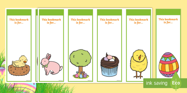 Editable Easter Bookmarks  Bookmark Bookmark Template Easter