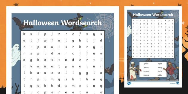 Halloween Wordsearch - halloween, wordsearch, halloween worksheet, word search, word activity, word, key words, word game, themed wordsearch, halloween words