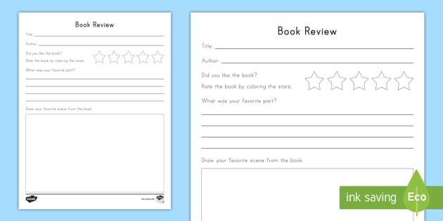 Book review worksheet activity sheet book review opinion book review worksheet activity sheet book review opinion writing favorite book ibookread PDF