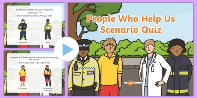 EYFS People Who Help Us Scenario Quiz - quizzes, games, eyfs