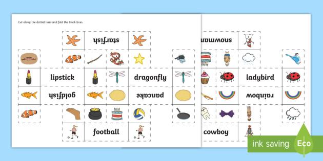 Compound Words Interactive Visual Aid Activity Eylf