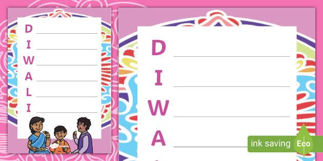 Diwali Acrostic Poem Template Teacher Made Send marathi diwali poems to your loved ones. diwali acrostic poem template teacher