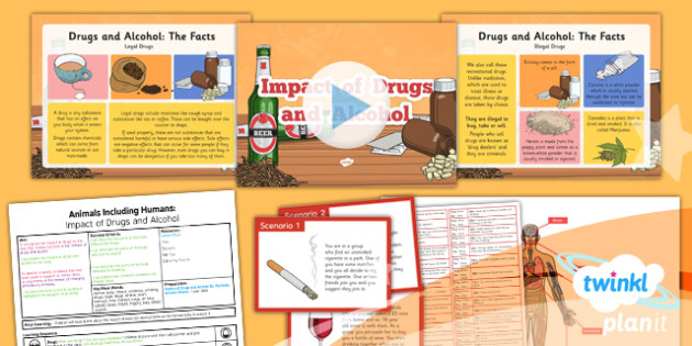 Science: Animals Including Humans: Impact of Drugs and Alcohol Year 6 Lesson Pack 6