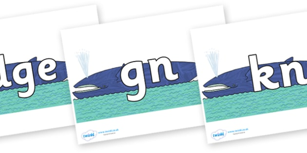 Silent Letters on Whale to Support Teaching on Sharing a Shell - Silent Letters, silent letter, letter blend, consonant, consonants, digraph, trigraph, A-Z letters, literacy, alphabet, letters, alternative sounds