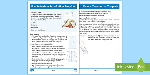 how to make a tessellation template step by step instructions