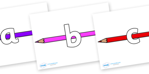 Phoneme Set on Pencil Crayon - Phoneme set, phonemes, phoneme, Letters and Sounds, DfES, display, Phase 1, Phase 2, Phase 3, Phase 5, Foundation, Literacy