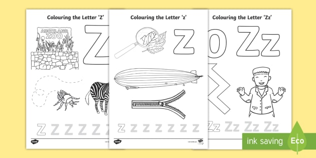 Letter Z Coloring Pages Coloring Coloring Sheets