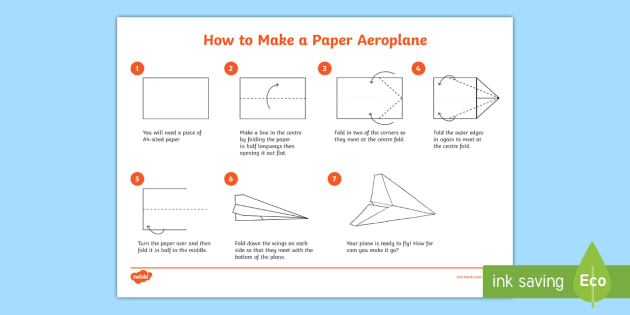 How To Make A Paper Aeroplane How To Make A Paper Aeroplane