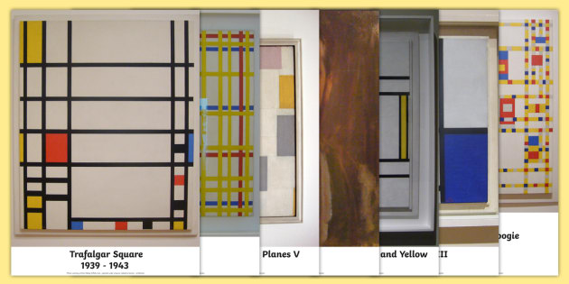Piet Mondrian Photo Pack - photos, displays, display, visual