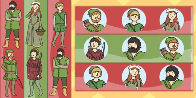 Robin Hood Display Borders - display, borders, robin, hood, merry