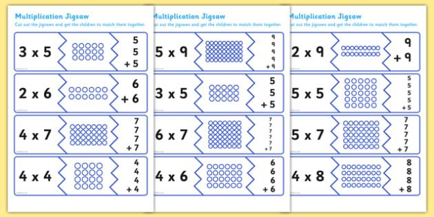 Multiplication Matching Puzzle Game - australia, puzzle, game
