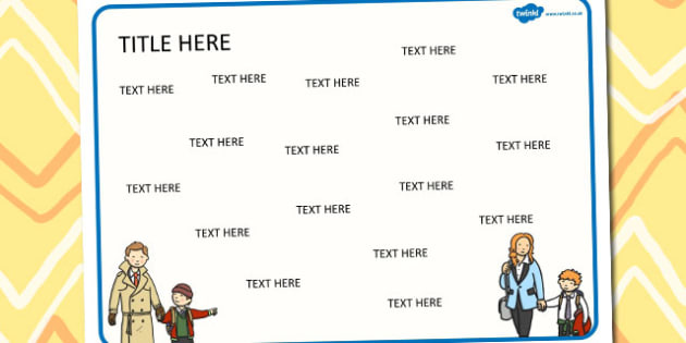 My Family Themed Editable Word Mat - literacy, words, writing