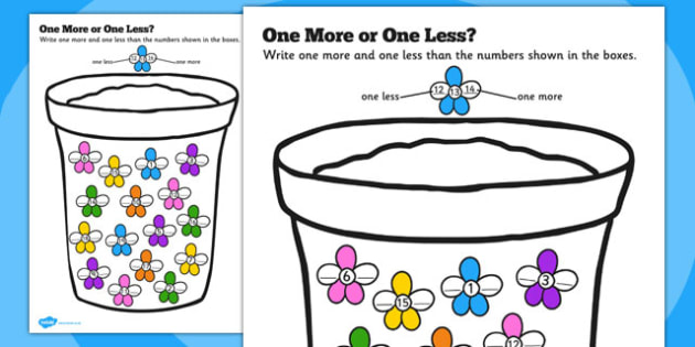 One More or One Less Flowers Counting - flowers, counting, count