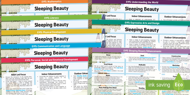 EYFS Sleeping Beauty Lesson Plan and Enhancement Ideas - planning, stories, lesson ideas