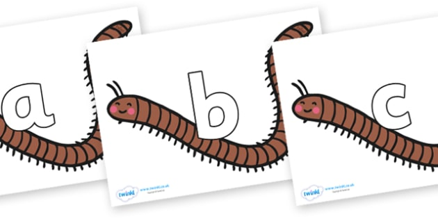 Phoneme Set on Millipedes - Phoneme set, phonemes, phoneme, Letters and Sounds, DfES, display, Phase 1, Phase 2, Phase 3, Phase 5, Foundation, Literacy