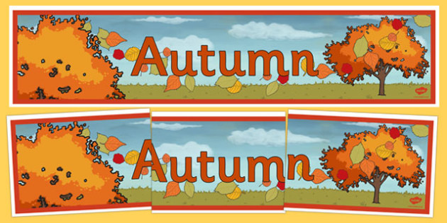 Autumn Display Banner - autumn, display, banner, display banner