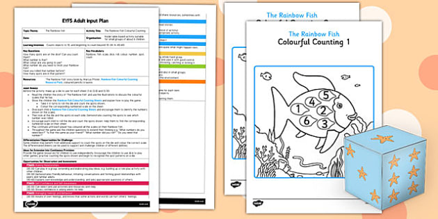 Colourful Counting EYFS Adult Input Plan and Resource Pack to Support Teaching on The Rainbow Fish