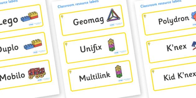 Daffodil Themed Editable Construction Area Resource Labels - Themed Construction resource labels, Label template, Resource Label, Name Labels, Editable Labels, Drawer Labels, KS1 Labels, Foundation Labels, Foundation Stage Labels