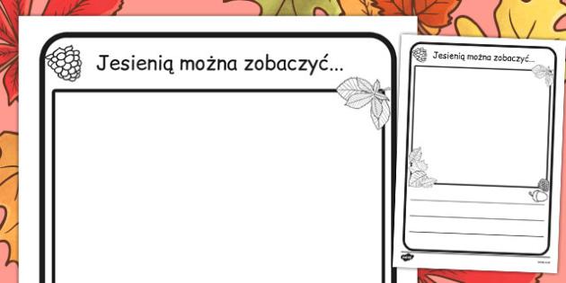 Ćwiczenie na pisanie Jesienią mogę zobaczyć po polsku , Polish