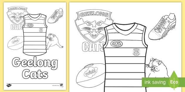 afl team colouring in pages