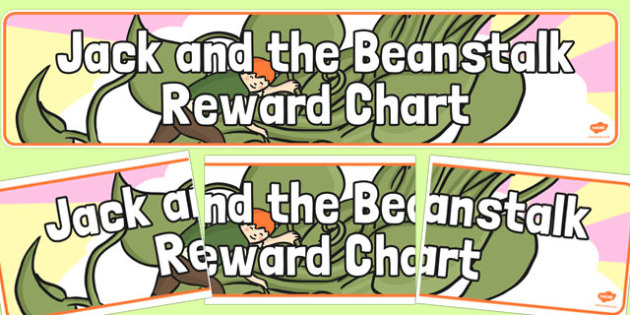 Jack and the Beanstalk Reward Display Banner - display banner