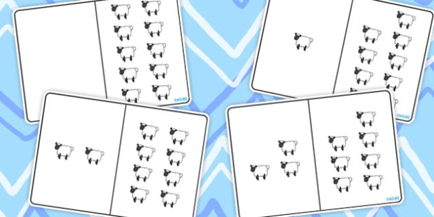 Sheep Counting Number Bonds to 10 - numbers, count, numeracy