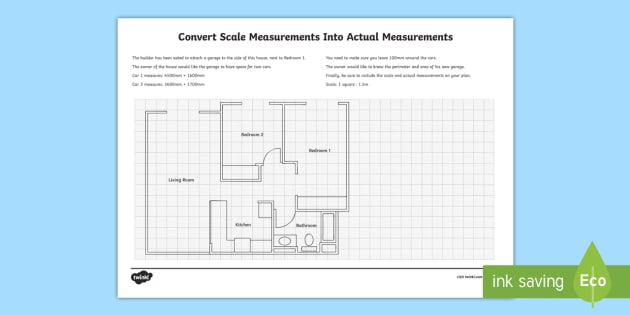 Planning a garage using scale measurements with gridlines for Free scale drawing software