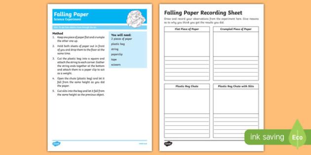 Falling Paper Science Experiment-Australia