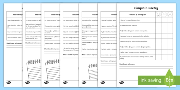Writing A Poem Self Assessment Tracker Activity Pack - Poetry, Poem
