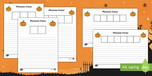 Halloween Themed Phoneme Frame Activity Sheets