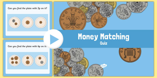 British Money Matching Activity Up To 10p - money, money matching, matching activity, matching game, 0-10, up to 10p, pence, matching coins, coins, numeracy