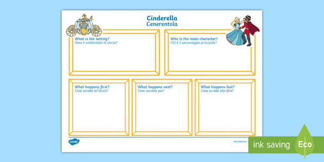 Black and White Cinderella Story Review Writing Frames