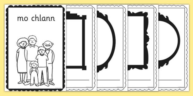 mo chlann Book Gaeilge - gaeilge, my family, family, book, activity