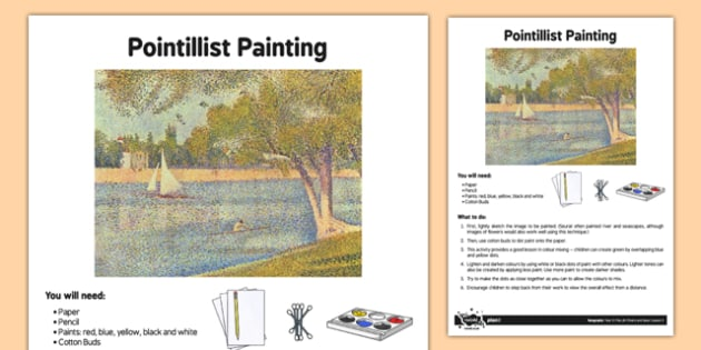 Pointillist Painting Adult Guidance - art, Pointillist, rivers, sea, Seurat