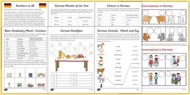 learn german worksheet starter pack german learn german. Black Bedroom Furniture Sets. Home Design Ideas