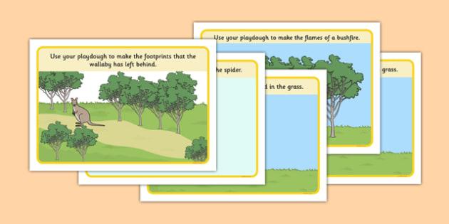 Bush Habitat Playdough Mats - australia, Science, Year 1, Habitats, Australian Curriculum, Bush, Living, Living Adventure, Environment, Living Things, Animals, Playdough Mat